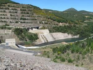 Le barrage sur l'Agly