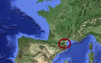 Carte de situation des Pyrénées catalanes