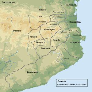 Les comtés de Catalogne